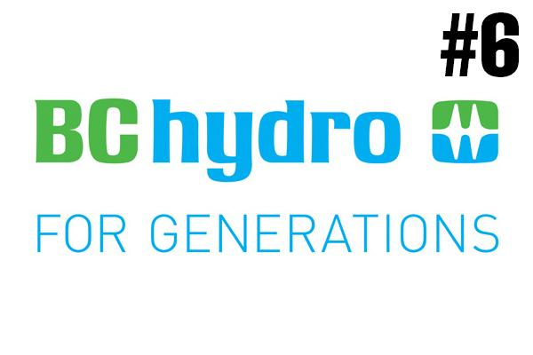 <strong>6. BC Hydro</strong><br />