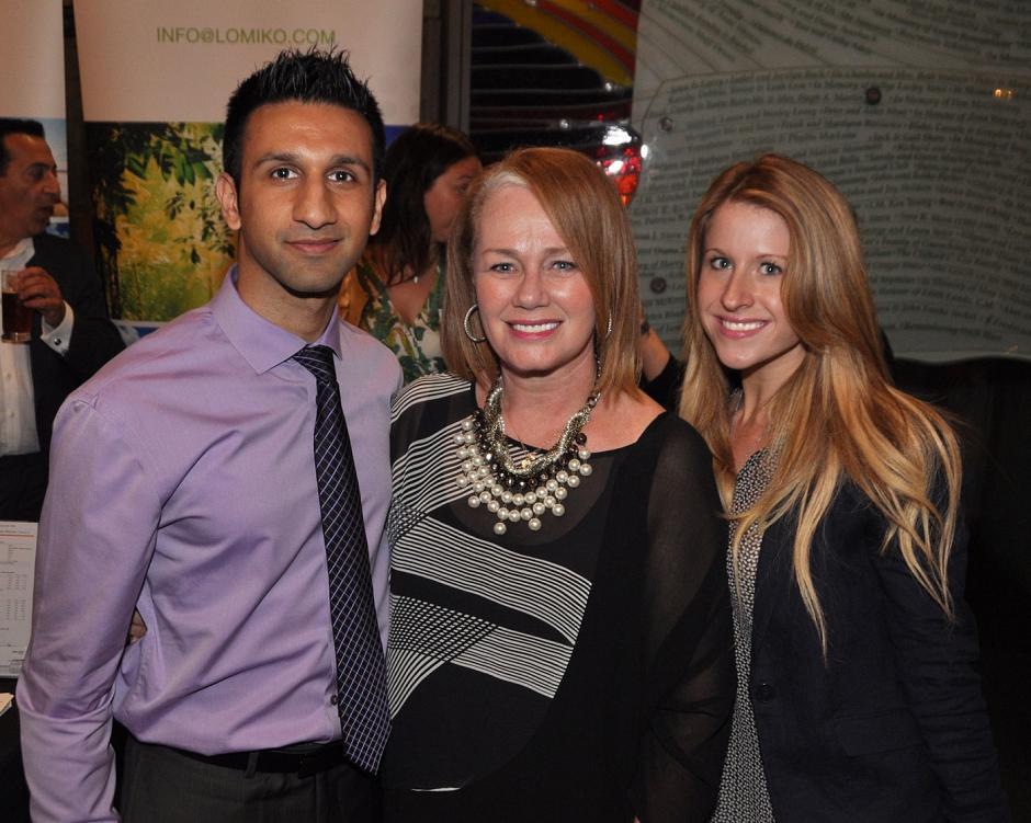 Pardeep Jassal, BCBusiness senior account manager; Arlene Dickinson, Dragons' Den star and Venture Communications CEO; and Rachel Neumer, SOHO Business Group marketing manager