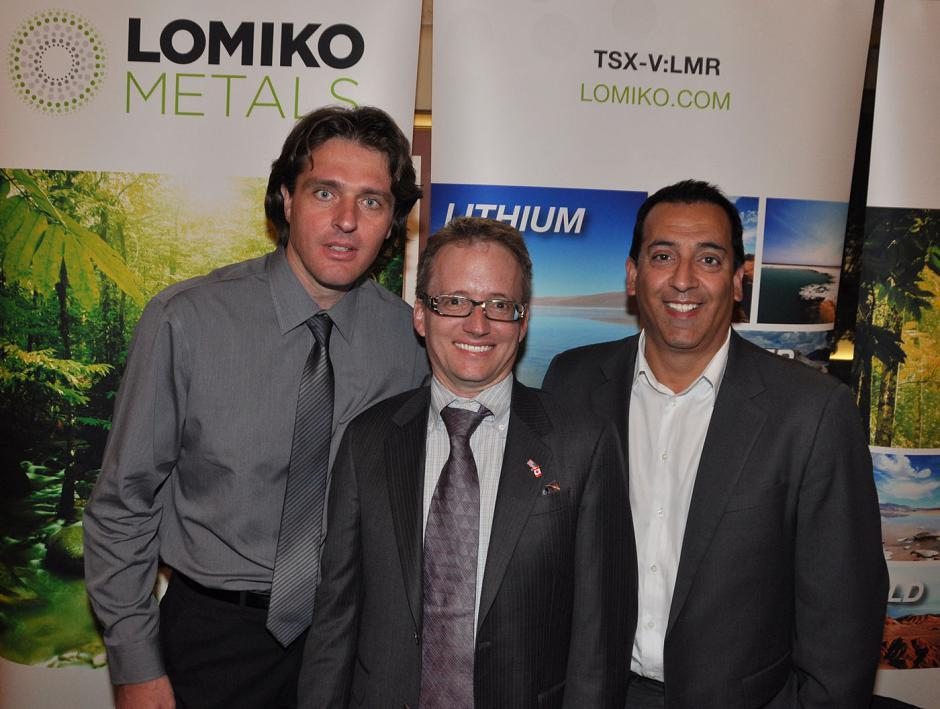 Julius Galik, Lomiko Metals director; Brian Gusko, Lomiko Metals director; and A. Paul Gill, Lomiko Metals CEO