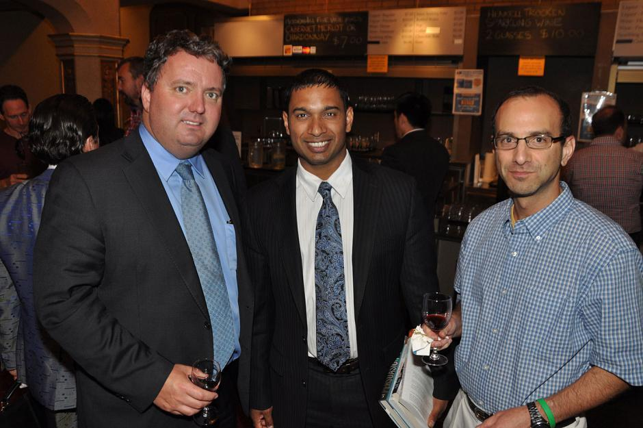 Peter Taylor, Scotiabank branch manager; Yehan Dhanawansa, Scotiabank senior financial advisor; and Dr. Stuart Kreisman, St. Paul's Hospital endochronologist