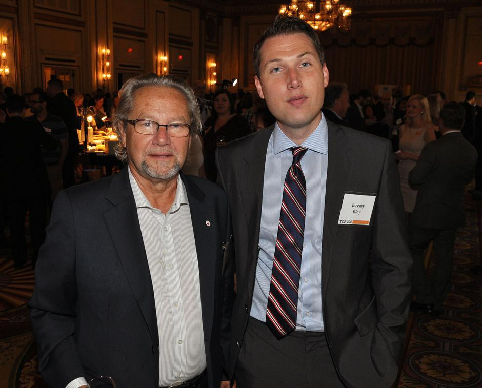 Harry Bloy, former B.C. MLA; and his son, Jeremy Bloy, Canadian Western Bank account manager