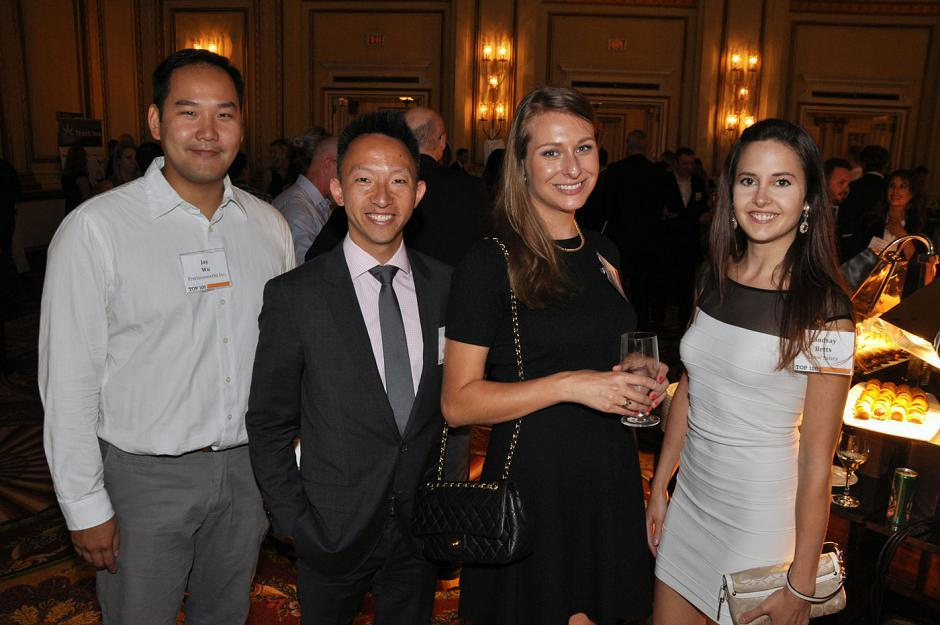 Jay Wu, Precisionwerkz Canada Inc. project manager; Paul Wong, Speaking G.I.F.T. founder and president; Christina Babich, Shaw Communications business sales consultant; and Lindsay Betts, Shaw Sabey & Associates insurance agent
