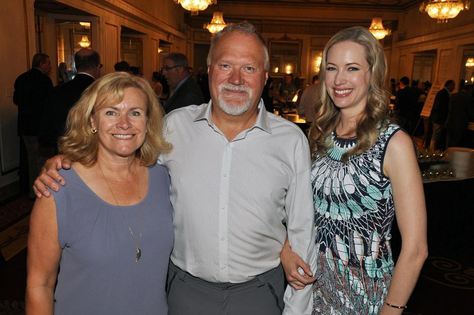 Nancy Peterson; her husband, Clayton Peterson; and their daughter, Robin Peterson, Tesla Vancouver sales manager