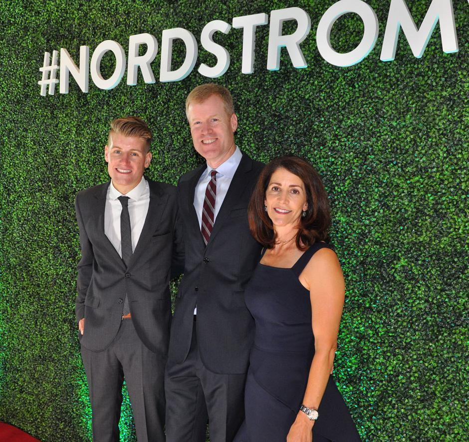 Sam Nordstrom; Erik Nordstrom, Nordstrom co-president; and his wife, Julie Nordstrom