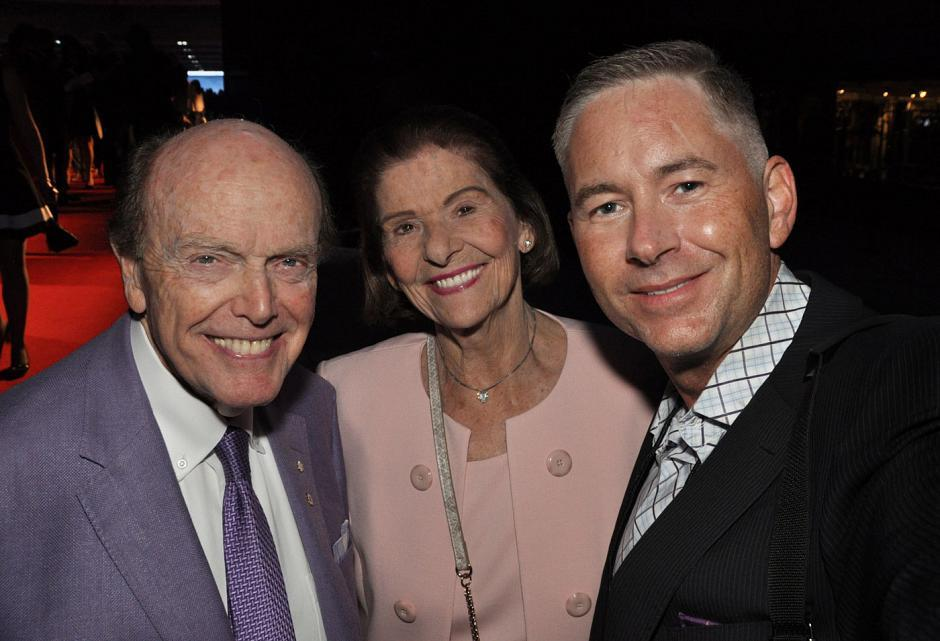 Jimmy Pattison, Jim Pattison Group CEO/chairman and sole owner; Mary Pattison, his wife of 60 years; and Paul Duchart, Canada Wide Media photographer