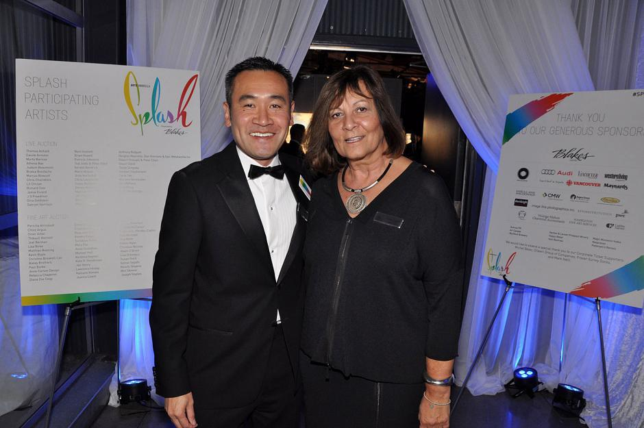Michael Lee, Arts Umbrella board chair; and Lucille Pacey, Arts Umbrella president & CEO