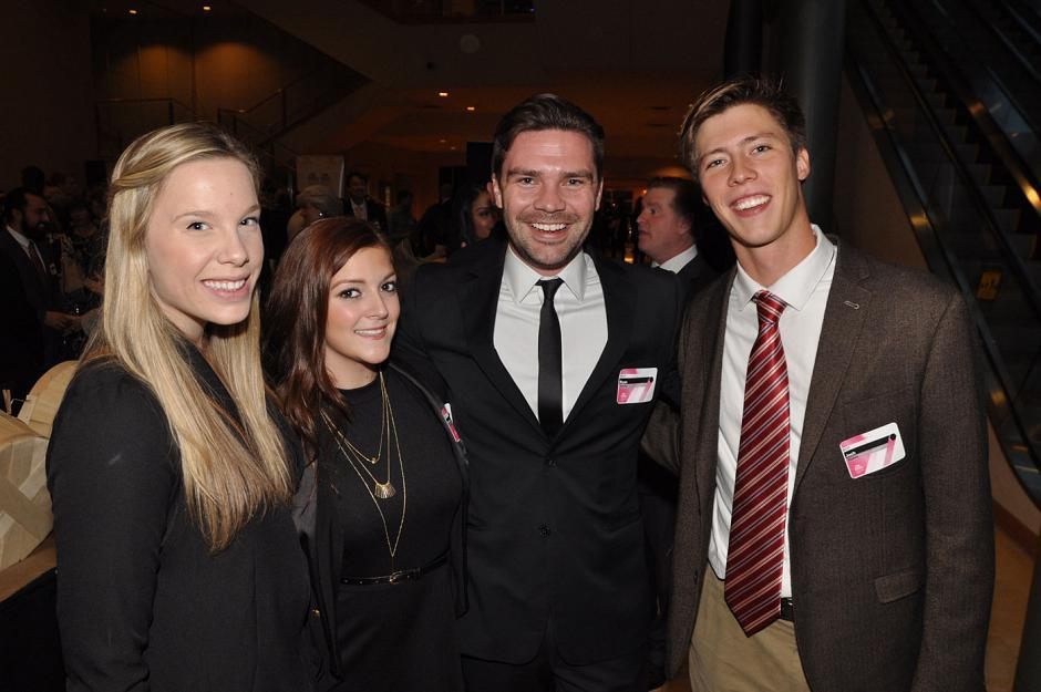 BCIT marketing communications students Katie Muir; Kailey Zenyk; Ryan Scholz; and Josh Stokes