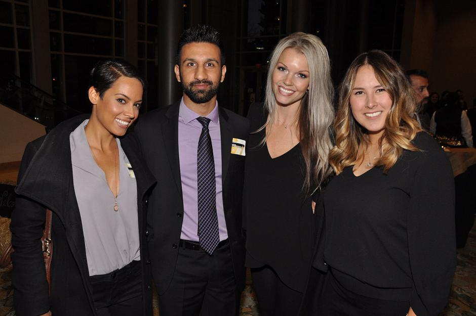 Nancy Deen, Divine Intervention associate matchmaker; Pardeep Jassal, BCBusiness senior account manager; Tiffany Hoos, Bull, Housser & Tupper LLP marketing communications specialist; and Allyson Wickham, BCBusiness marketing & event manager
