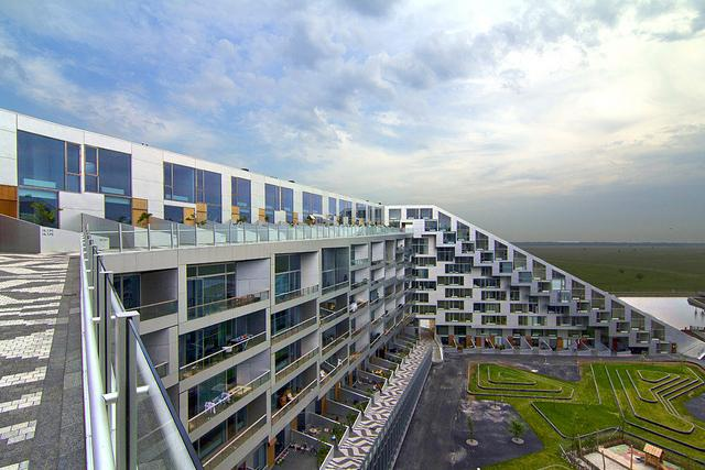 Apartments built for bicycles could have ramps like 8 House in Copenhagen, designed by Bjarke Ingels
