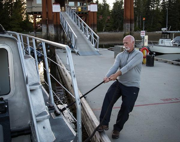 Patron of the Sea | Eric Peterson docks his boat at the research station on Calvert Island—home to the Hakai Institute