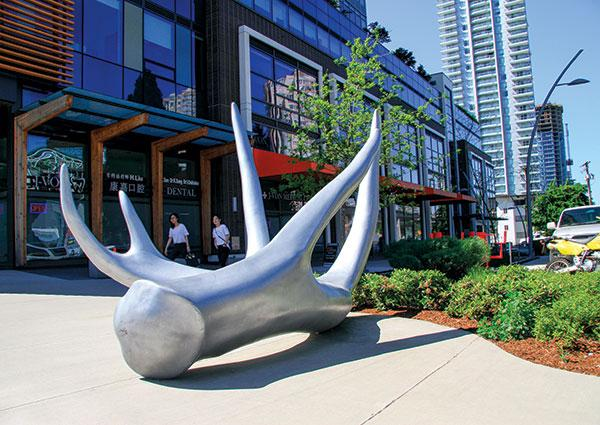 Various sculptures sprinkled throughout the city are some examples of Burnaby's commitment to arts and culture