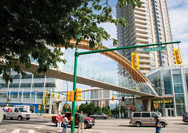 The town centre of Metrotown hits the mark in every way with its wide range of services and busineses, and proximity to rapid transit
