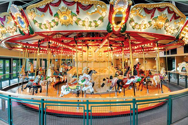 One of Burnaby Village Museum's big attractions is the restored 1912 C.W. Park Carousel