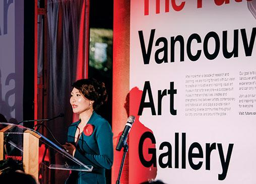 NEW CANVAS | Amelia Gao at the fundraiser for the VAG's Institute of Asian Art