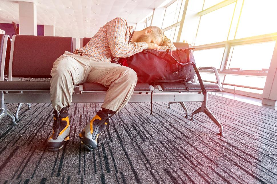 airport; flight; sleep; man; travel; business; tired; trip; person; waiting; young; departure; people; lounge; terminal; delay; traveler; background; adult; white; one; male; businessman; transportation; delayed; journey; transit; passenger; asleep; late;