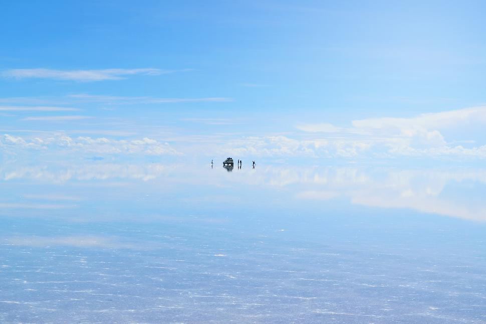 Salar de Uyuni salt flats Bolivia South America Mirror Reflect