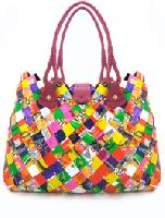 Ecoist upcycled bag made from old candy wrappers