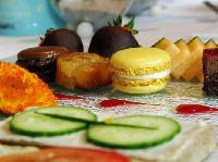 French macarons and petits fours